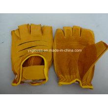Cow Leather Glove-Half Finger Glove-Sport Glove-Working Glove-Safety Gloves