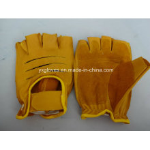 Cow Leather Glove-Half Finger Glove-Sport Glove-Working Glove-Safety Gloves