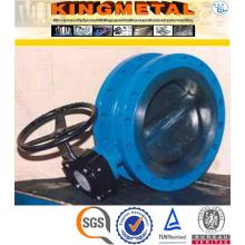 Precio de la válvula de mariposa del reborde del acero de carbono de Dc 200 1/2/3 PC Wcb