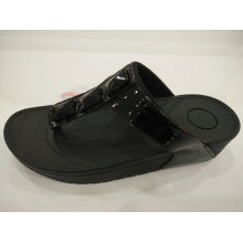 Summer Beach Black Crystal Slippers for Women