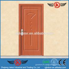 JK-P9034 porte extérieure en pvc / porte de bureau intérieure avec fenêtre vitrée / porte en bois massif