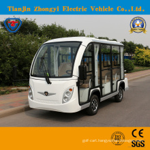 Zhongyi 8 Seater Enclosed Electric Shuttle Intelligent Pulse Charger Sightseeing Bus