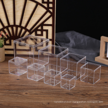 High Quality Customized Square Solid Plastic Clear Acrylic Candy Box with lid