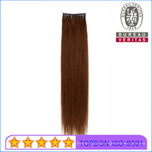 Human Virgin Remy Hair Grade 18inch All Colors Double Thread Knot Single Ring Hair Extension