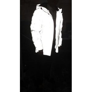 High vis jacket with reflective fabric