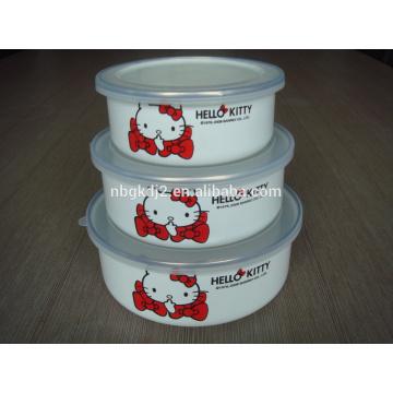 hello kitty enamel ice bowl for kids