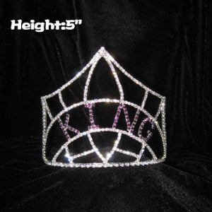 5in Height Rhinestones King Crowns