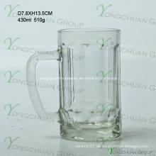 430ml Kleiner Glasbärbecher mit Streifen Nizza Form