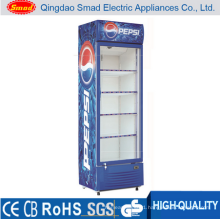 Single Door Upright Display Showcase Refrigerators
