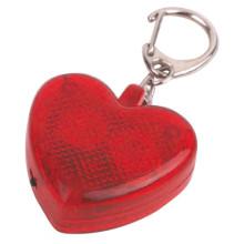 الشعلة سلسلة المفاتيح البلاستيكية ميني 2LED على شكل قلب