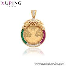 33072 joyería de aleación de cobre de moda estilo mexicano colgante de circón cúbico sintético