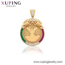 33072 Moda liga de cobre jóias estilo mexicano sintético pingente de zircão cúbico