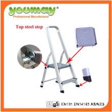 EN131 Approved Aluminum ladder, handrail step ladder AF0302A