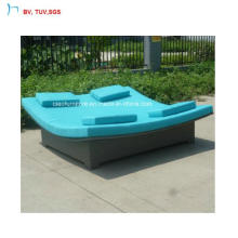 C- Fashionable Outdoor Synthetic Rattan Double Sun Lounger