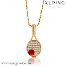 32075-Xuping In stock gold tennis pendant sports jewelry