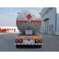 13m dicairkan Gas transportasi Semi Trailer 23.6Tons