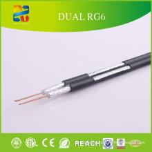 China Venda de alta qualidade baixo preço Dual RG6 Cable