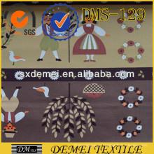 grabado de moda último diseño de la tela de materia textil casera