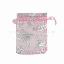Super fino casamento na moda usado bela bolsa de organza com alta qualidade