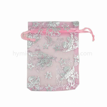 Super fine fashionable wedding used beautiful organza pouch with high quality