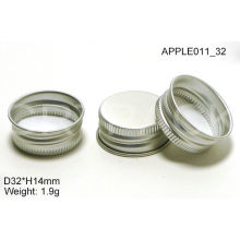 Bright Silver H14mm Round Aluminium Bottle Caps For Cosmetics / Food Containers Apple011_32