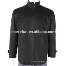 Fabrik Großhandel schwarz 450g / sm Herren 100% Mantel Kaschmir Winter Mantel Jacke