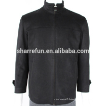 factory wholesale black 450g/sm men's 100% coat cashmere winter coat jacket