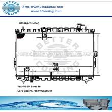Радиатор для Hyundai Santa Fe 01-04 OEM: 2531026050/2531026070