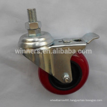 75mm PU material furniture leg caster