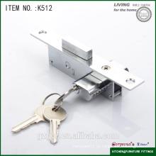 Cerradura de los muebles interiores de la seguridad barata al por mayor del hardware con la llave de la computadora / la llave normal / la llave cruzada para la puerta de madera