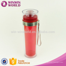 Promotion Plastic Drinking Bottle with Hand Rope,Food Grade Water Bottle