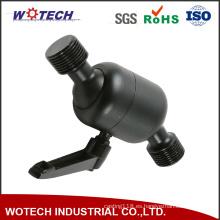 Pieza mecánica de torneado del CNC de la precisión de aluminio anodizada negra que trabaja a máquina
