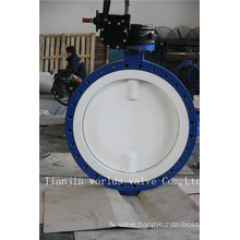 U Section PTFE Lined Butterfly Valve with Ce ISO Wras Approved (CBF02-TU01)