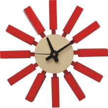 Реплика красных блочных настенных часов Джорджа Нельсона