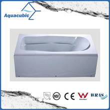 Rectangle ABS Board Massage Bathtub in White (AB0820A)