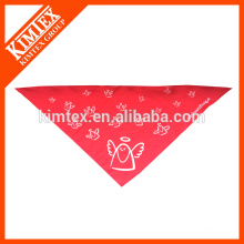 Logotipo do costume do impressão do bandana do triângulo da tela do cão