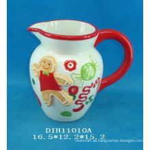 Handgemalter Keramikkrug für Weihnachtsdekoration