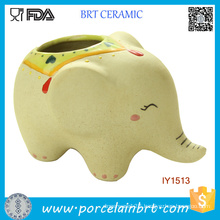 Creative Cute Ceramic Elephant Garden Pot