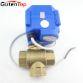 Gutentop 2 Way 3 Way Brass or Stainless Steel Electric Motor Mini Ball Valve
