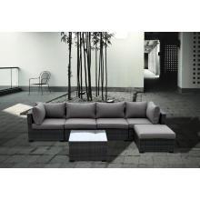 Sofá do Rattan moderno confortável mobília ao ar livre projeto