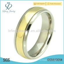 Anillo de oro simple de la joyería de la manera 24k sin diamante