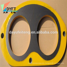 China cifa kyokuto ihi concrete pump wear plate /spectacle and cutting ring