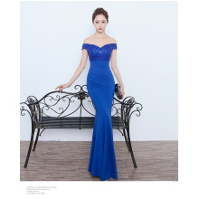 067 # wedding dress 2017 new black Slim thin long evening gown stage catwalk annual car model