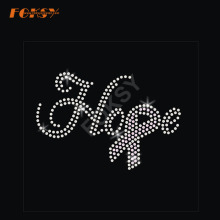Espero fita rosa Hot Fix Rhinestone Transfer