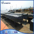 Marine construction floating steel pontoon