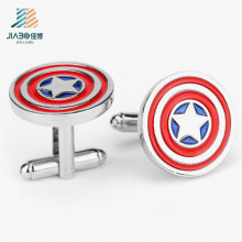 Promotional Gift Wholesale American Captain Custom Cufflink with Box