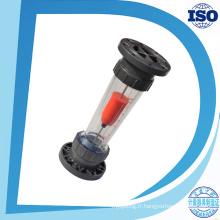 Débitmètre en plastique d'écoulement d'eau de débitmètre liquide de débitmètre en plastique de bride