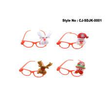 Superstarer Christmas Glasses Frame Christmas Party Glasses Glitter Christmas Eyeglasses Creative Decoration