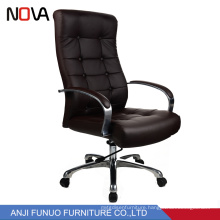 Modern Black Leather arm screw lift office swivel visitor chair wholesale