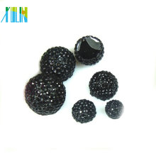DIY half round resin rhinestone pave button beads for clothing accessory